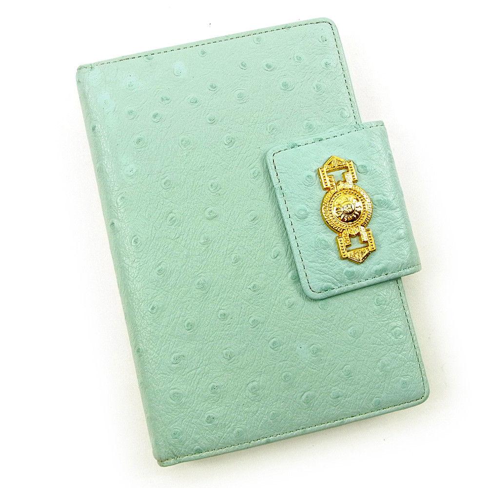 【中古】 ヴェルサーチ 手帳カバー Versace ブルー T3755s