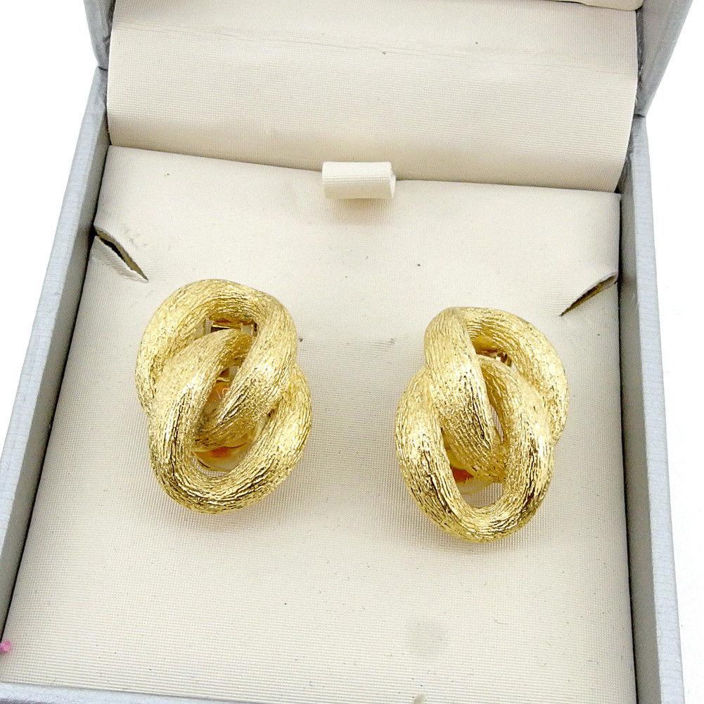 【中古】 ディオール Dior イヤリング アクセサリー レディース ダブルリング ゴールド 合金 美品 T4564