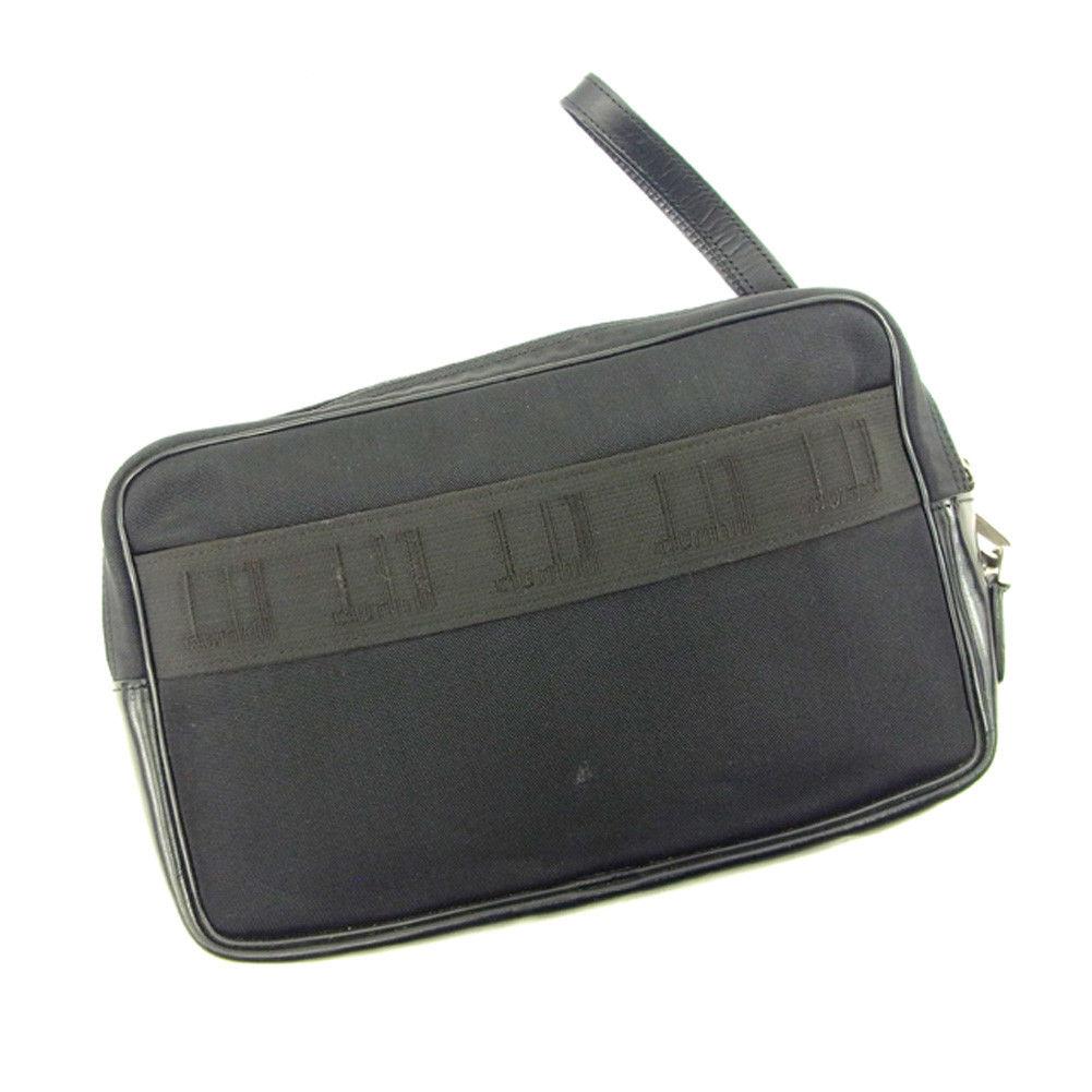 【中古】 ダンヒル クラッチバッグ セカンドバッグ Dunhill ブラック T4669s