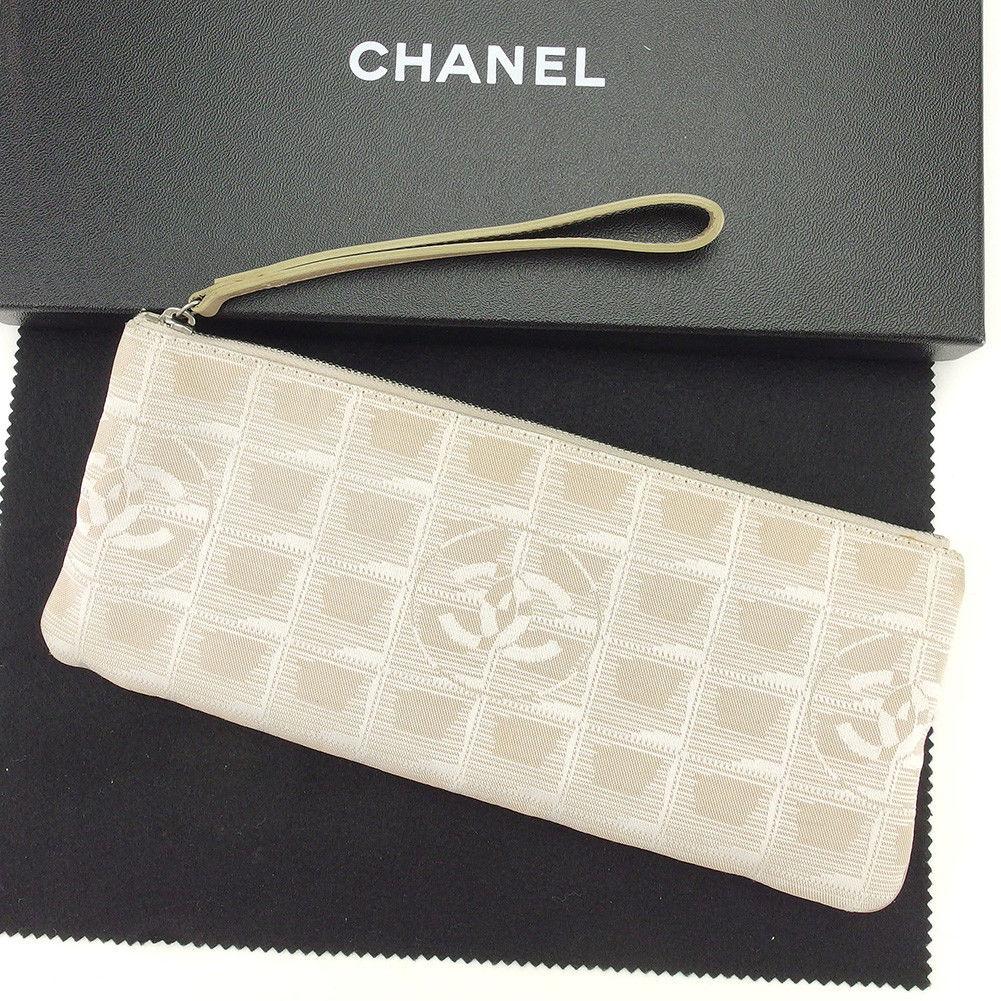 【中古】 シャネル Chanel ポーチ 化粧ポーチ ベージュ ニュートラベルライン レディース T4904s