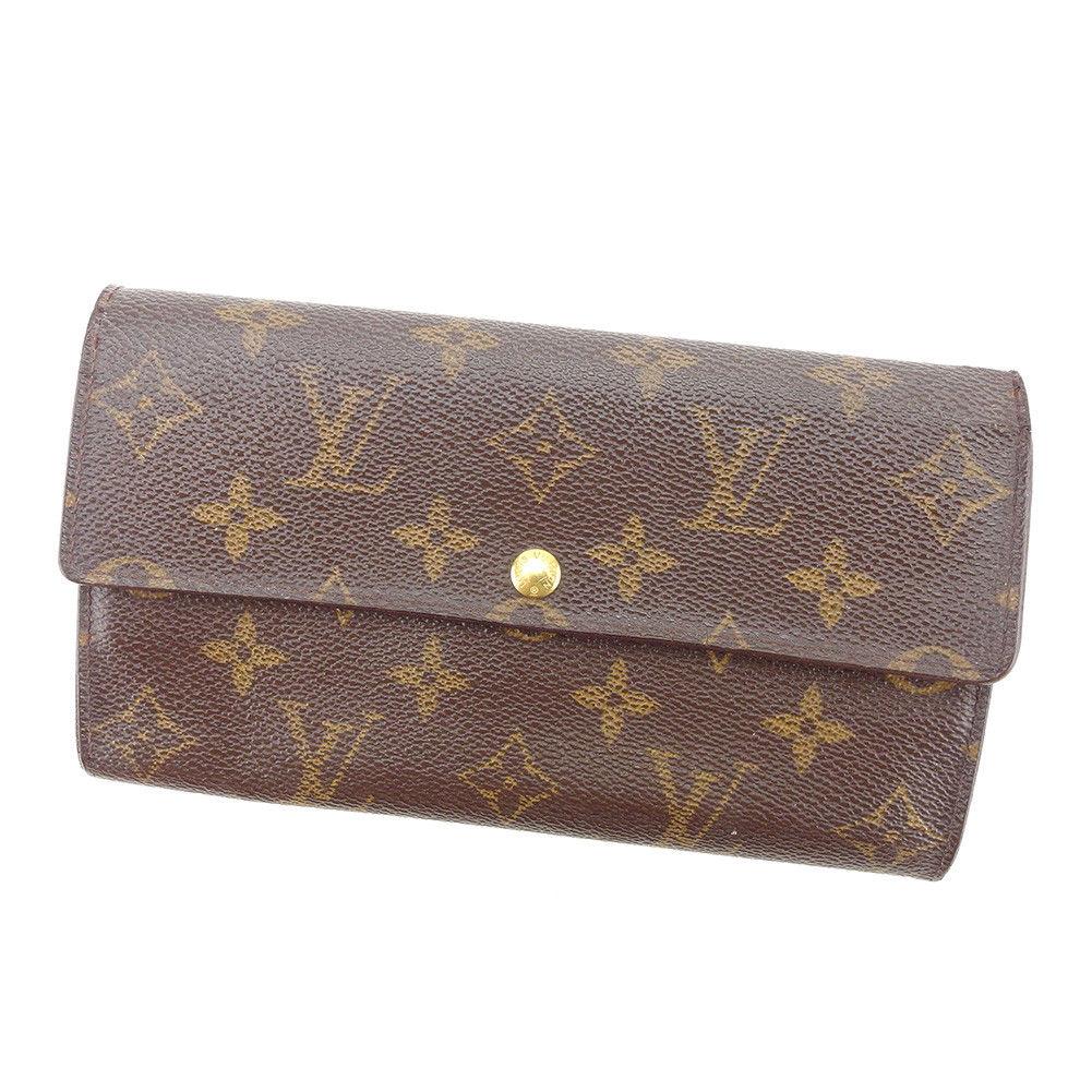 【中古】 ルイ ヴィトン 長財布 ファスナー付き長財布 Louis Vuitton ブラウン T4987s