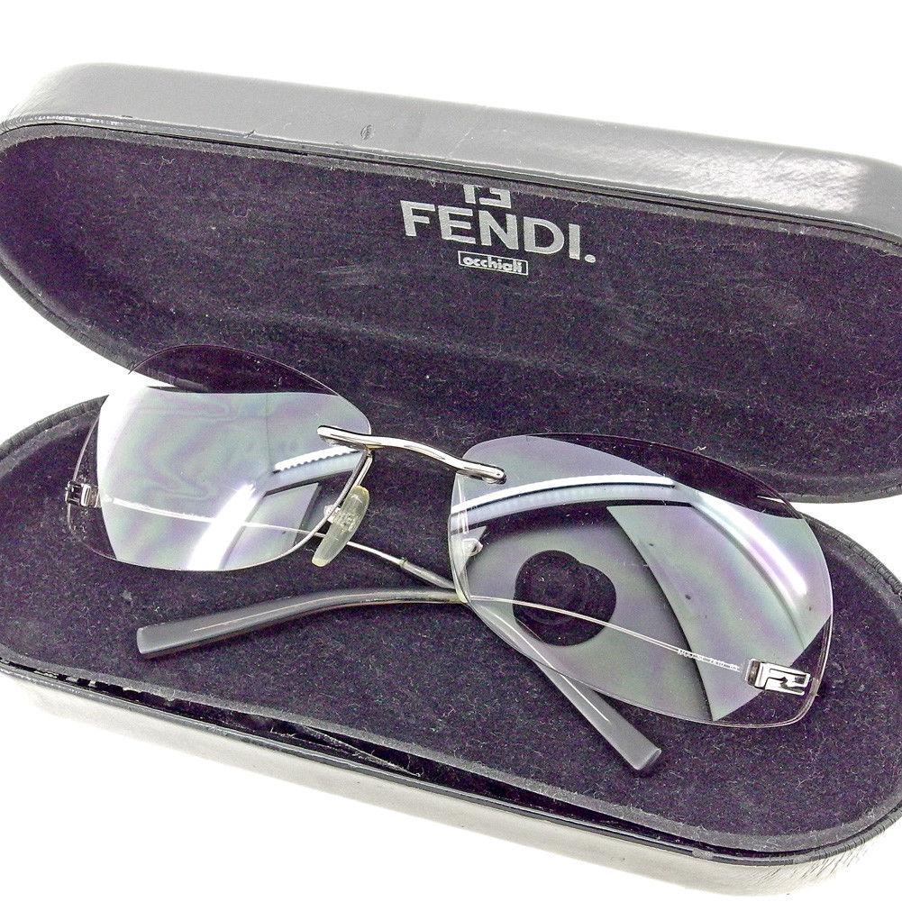 ba037c71b072 Fendi FENDI sunglasses glasses eyewear lady s men s possible under temple  FF mark gray gray silver plastic X silver metal fittings popularity sale  T5480