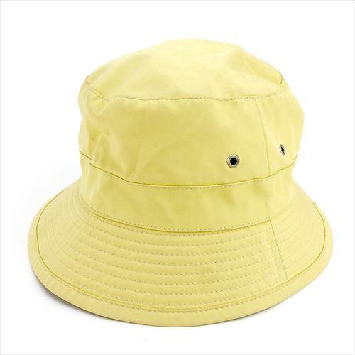 【中古】 エルメス HERMES 帽子 ♯61サイズ レディース メンズ 可 MOTSCH モッチ社製 ハット イエロー シルバー コットン100% 人気 T5551