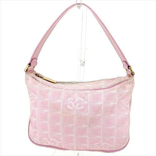 【中古】 シャネル ショルダーバッグ ワンショルダー Chanel ピンク ゴールド T5704s
