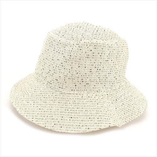 【中古】 エルメス HERMES 帽子 ハット レディース メンズ 可 ベージュ ブラック 綿×レーヨン 人気 良品 T5900 .