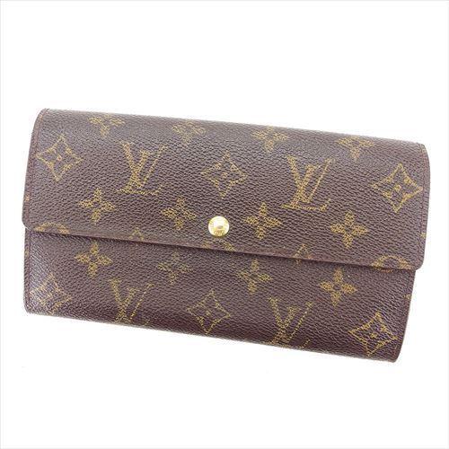 【中古】 ルイ ヴィトン 長財布 ファスナー付き長財布 Louis Vuitton ブラウン T5910s