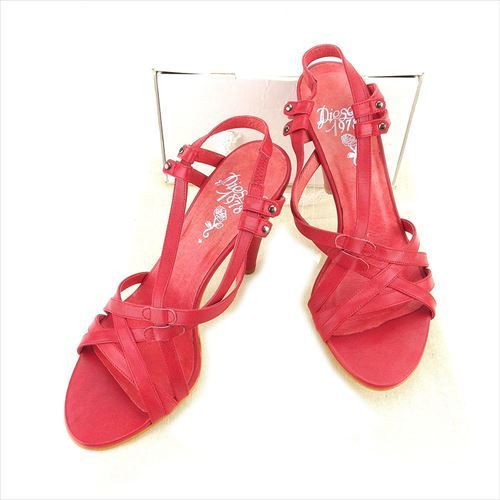【中古】 ディーゼル DIESEL サンダル 靴 シューズ レディース #39 レッド レザー T5939