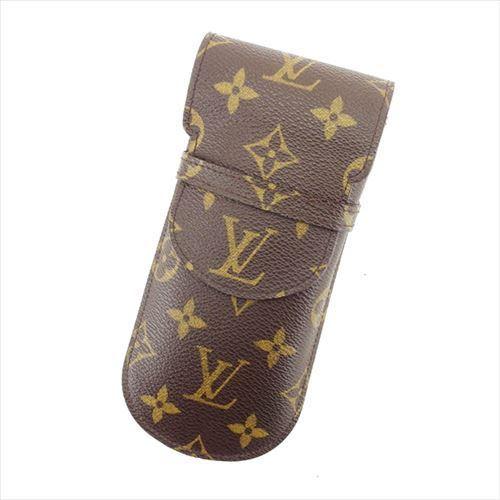 【中古】 ルイ ヴィトン メガネケース ペンケース Louis Vuitton ブラウン T5952s