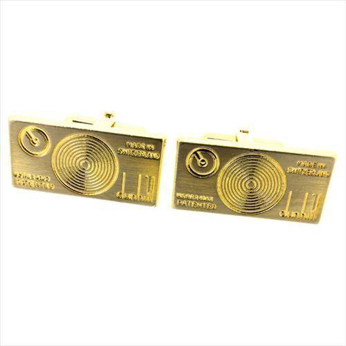 【中古】 ダンヒル dunhill カフス スウィヴィル式 メンズ スクエア シルバー ゴールド シルバー&ゴールド金具 美品 T6359 .