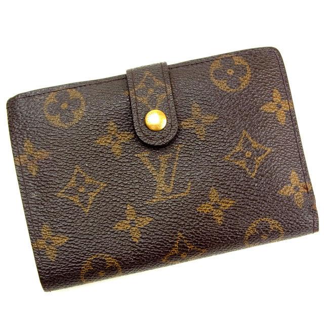 【中古】 ルイヴィトン Louis Vuitton がま口財布 二つ折り メンズ可 /ポルトモネ ビエヴィエノワ モノグラム M61663 ブラウン PVC×レザー (あす楽対応)(激安・即納) Y083 .