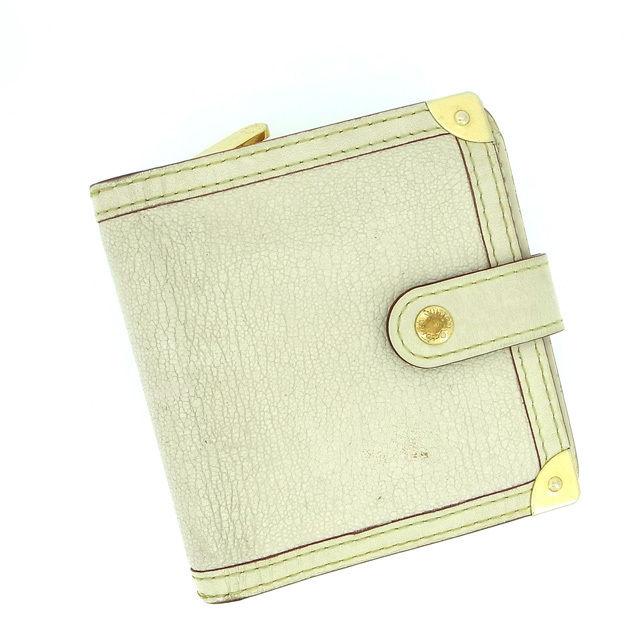 【中古】 ルイヴィトン Louis Vuitton 二つ折り財布 /二つ折り /メンズ可 /コンパクトジップ スハリ M91831 ブロン レザー (あす楽対応)(激安・即納) Y162 .
