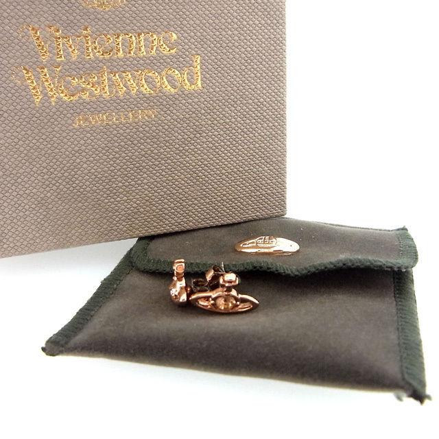 【中古】 ヴィヴィアン・ウエストウッド Vivienne Westwood ピアス オーブ ピンクゴールド (あす楽対応)(良品・即納) Y171 .