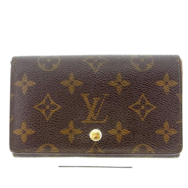 【中古】 ルイヴィトン Louis Vuitton L字ファスナー財布 二つ折り メンズ可 /ポルトモネビエトレゾール モノグラム M61730 ブラウン PVC×レザー (あす楽対応)(激安・即納) Y213 .