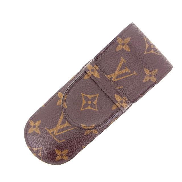【中古】 ルイヴィトン Louis Vuitton ペンケース /メンズ可 /エテュイ・スティロ モノグラム M62990 PVC×レザー (あす楽対応)(激安・即納) Y405 .