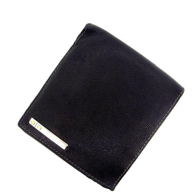 【中古】 カルティエ 二つ折り財布 さいふ サントス ブラック Cartier 二つ折りサイフ 財布 さいふ サイフ 収納ブランド ブランド財布 さいふ 2つ折り財布 さいふ ユニセックス 小物 人気 贈り物 迅速発送 在庫処分 1点物 T13888