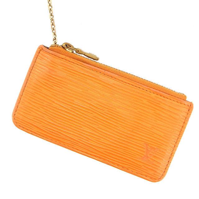 【中古】 ルイヴィトン Louis Vuitton キーケース /ポシェットクレ エピ M6380H オレンジ PVC×レザー (あす楽対応)(激安・即納) Y415