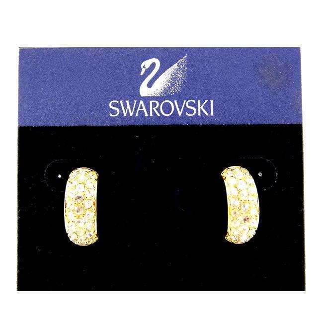 【中古】 スワロフスキー SWAROVSKI ピアス ゴールド ゴールド (あす楽対応)(中古) Y426 .