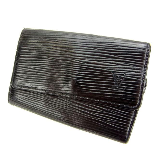【中古】 ルイヴィトン Louis Vuitton キーケース /6連キーケース /メンズ可 /ミュルティクレ6 エピ M63812 ノワール(黒) エピレザー (あす楽対応)人気 激安 T11497 .