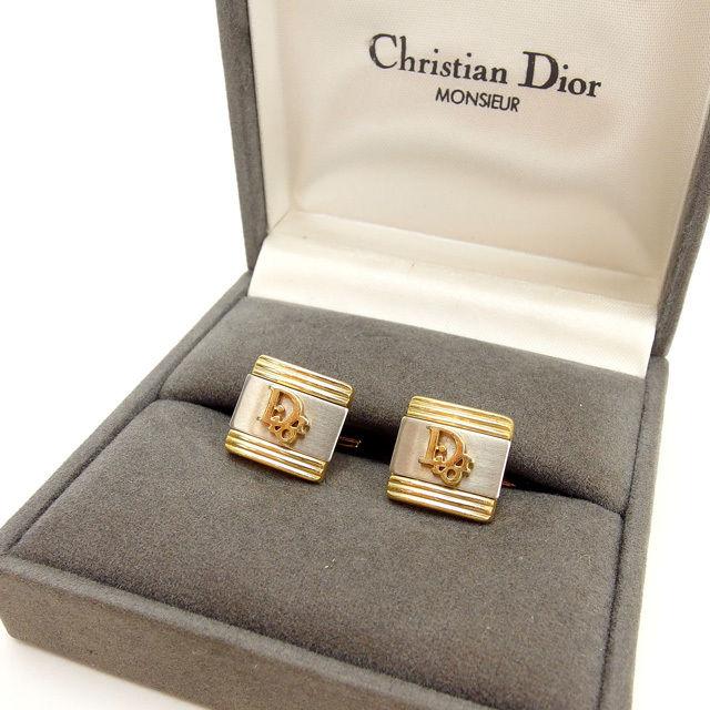【中古】 クリスチャン ディオール Christian Dior カフス レディース ゴールド×シルバー T13627 .