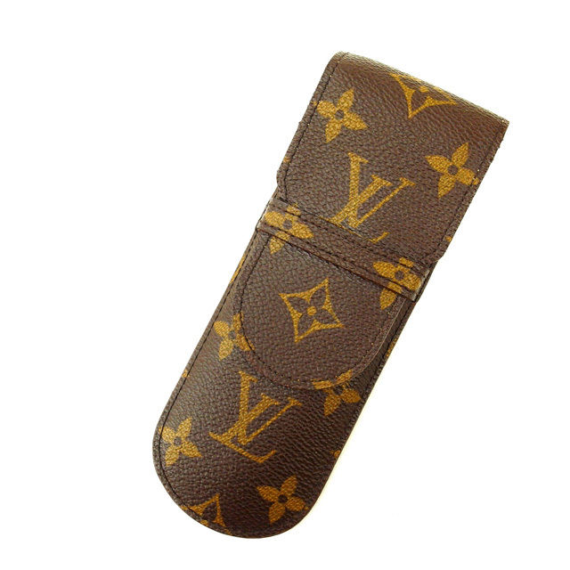 【中古】 ルイヴィトン Louis Vuitton ペンケース /エテュイ・スティロ モノグラム M62990 PVC×レザー (あす楽対応)良品 人気 Y1025 .