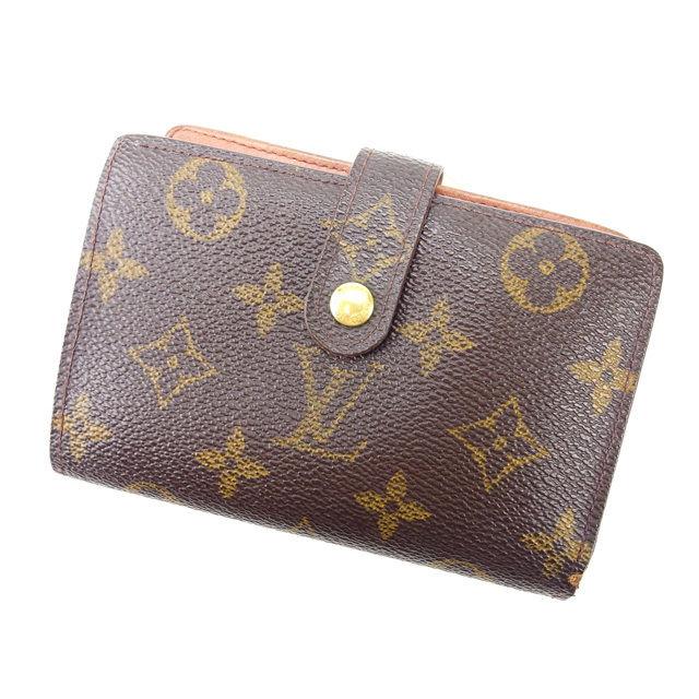 【中古】 ルイヴィトン Louis Vuitton がま口財布 二つ折り メンズ可 /ポルトモネ ビエヴィエノワ モノグラム M61663 ブラウン PVC×レザー (あす楽対応)激安 人気 Y1067 .
