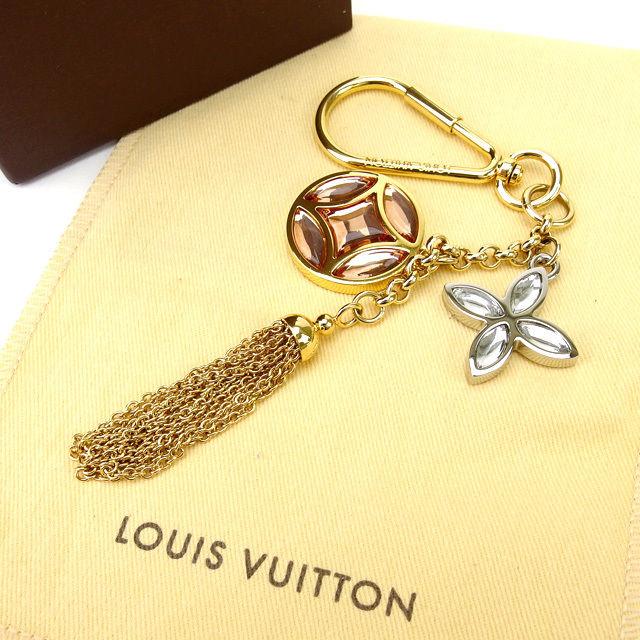 【中古】 ルイヴィトン Louis Vuitton キーリング レディース ラインストーン ゴールド (あす楽対応)人気 美品 Y1116 .