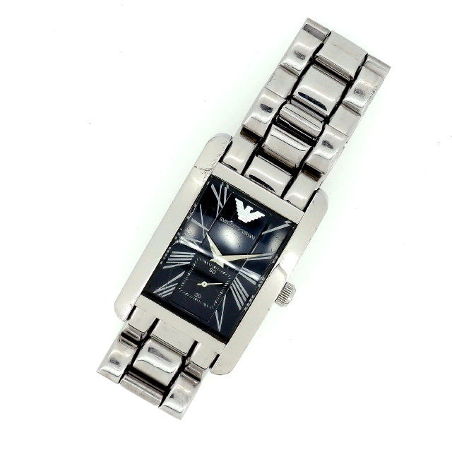 【中古】 ARMANI 腕時計 メンズ可 シルバー (あす楽対応)人気 激安 Y1232