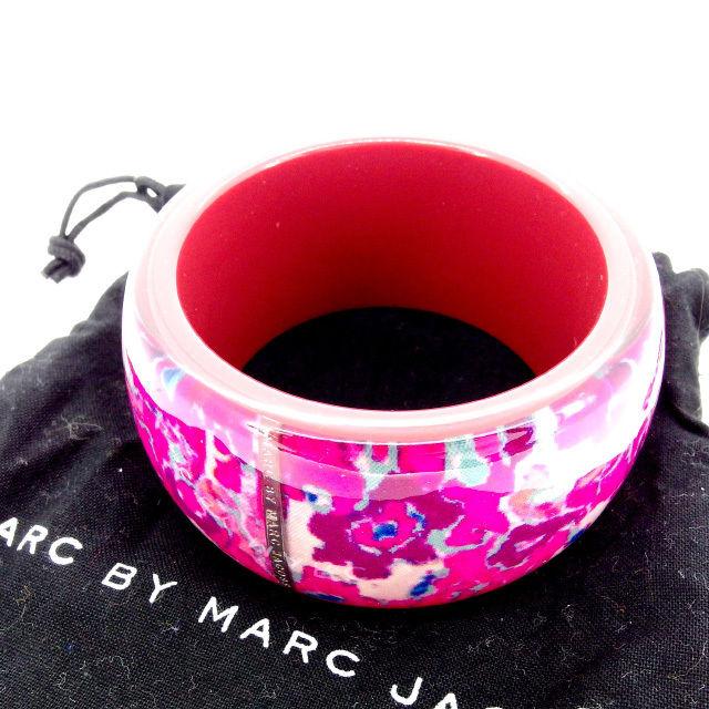 【中古】 マークジェイコブス MARC JACOBS バングル アクセサリー レディース 花柄 ピンク プラスチック (あす楽対応)人気 美品 Y1257 .