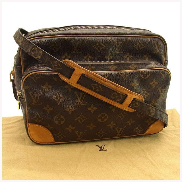 【中古】 ルイヴィトン Louis Vuitton ショルダーバッグ 斜めがけショルダー メンズ可 ナイル モノグラム M45244 ブラウン モノグラムキャンバス (あす楽対応)美品 人気 Y1301 .