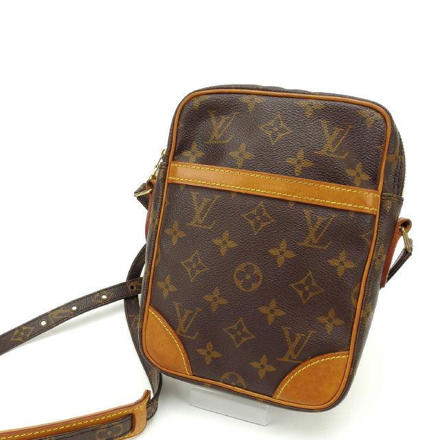 【中古】 ルイヴィトン Louis Vuitton ショルダーバッグ /斜めがけショルダー メンズ可 /ダヌーブ モノグラム M45266 ブラウン PVC×レザー (あす楽対応)人気 激安 Y1360 .