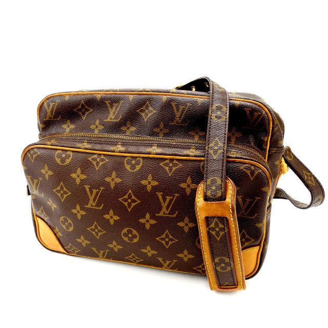 【中古】 ルイヴィトン Louis Vuitton ショルダーバッグ 斜めがけショルダー メンズ可 ナイル モノグラム M45244 ブラウン PVC×レザー (あす楽対応)人気 良品 Y1363 .