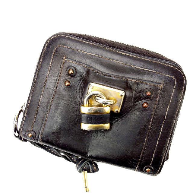 【中古】 人気 激安 クロエ 二つ折り財布 バティントン レディース【中古】 T13352