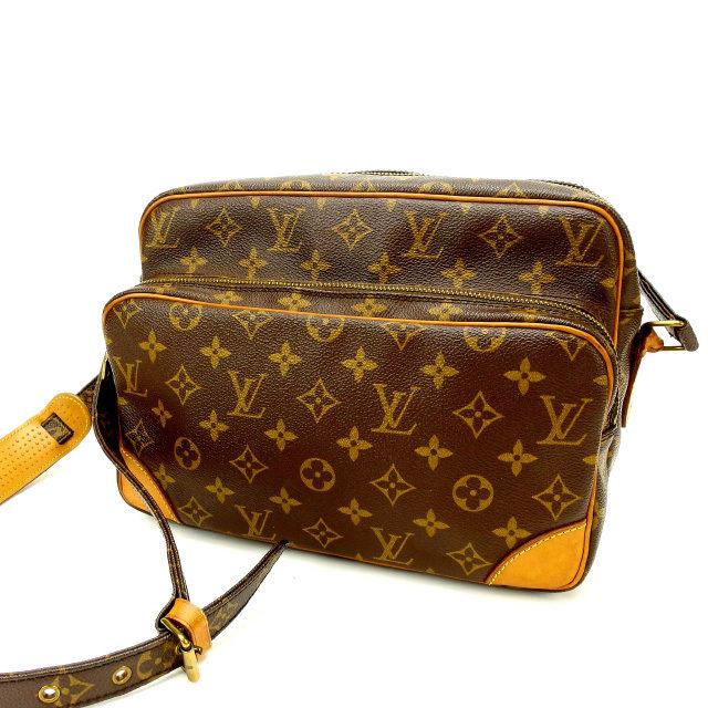 【中古】 ルイヴィトン Louis Vuitton ショルダーバッグ /斜めがけショルダー メンズ可 /ナイル モノグラム M45244 ブラウン PVC×レザー (あす楽対応)激安 人気 Y1443 .