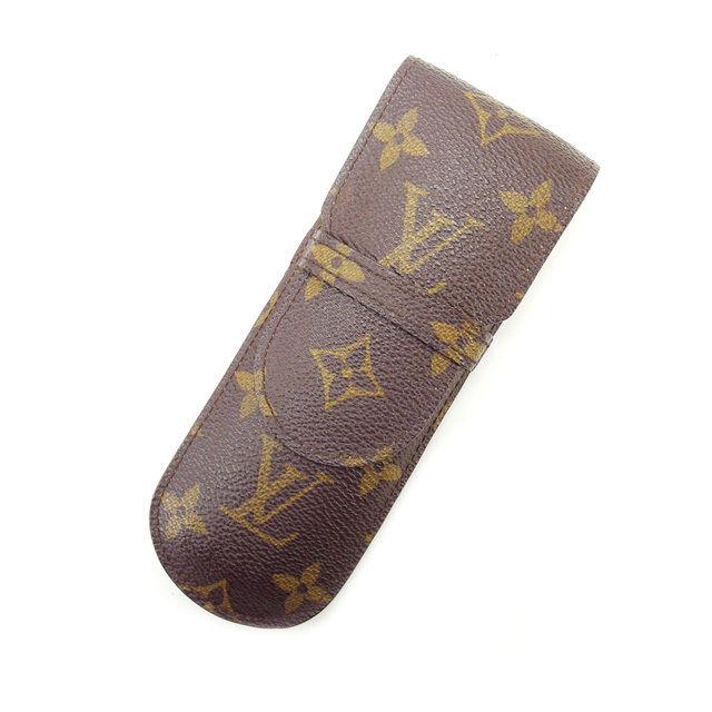 【中古】 ルイヴィトン Louis Vuitton ペンケース メンズ可 /エテュイ・スティロ モノグラム M62990 PVC×レザー (あす楽対応)人気 激安 Y1488 .