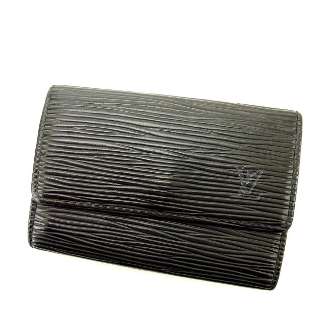 【中古】 ルイヴィトン Louis Vuitton キーケース /メンズ可 /ミュルティクレ6 エピ M63812 ノワール(黒) エピレザー (あす楽対応)人気 激安 Y1497 .