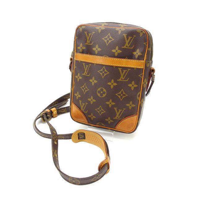 【中古】 ルイヴィトン Louis Vuitton ショルダーバッグ /斜めがけショルダー メンズ可 ダヌーブ モノグラム M45266 ブラウン PVC×レザー (あす楽対応)人気 激安 Y1604 .