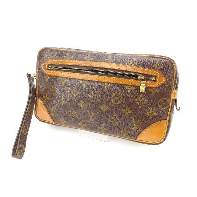 【中古】 ルイヴィトン Louis Vuitton セカンドバッグ クラッチバッグ メンズ可 マルリードラゴンヌGM モノグラム M51825 ブラウン PVC×レザー (あす楽対応)人気 激安 Y1605 .