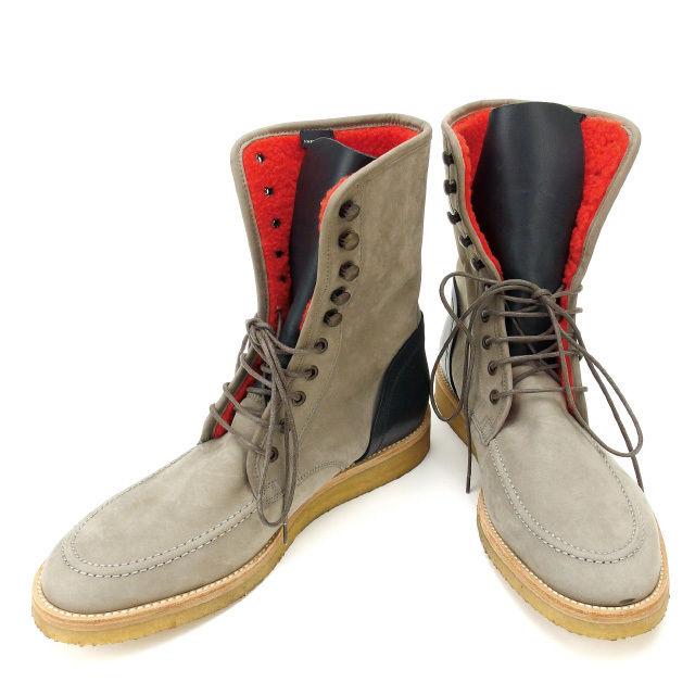 【中古】 マークジェイコブス MARC JACOBS ブーツ #42 メンズ グレー×オレンジ スエード (あす楽対応)人気 良品 Y1668 .