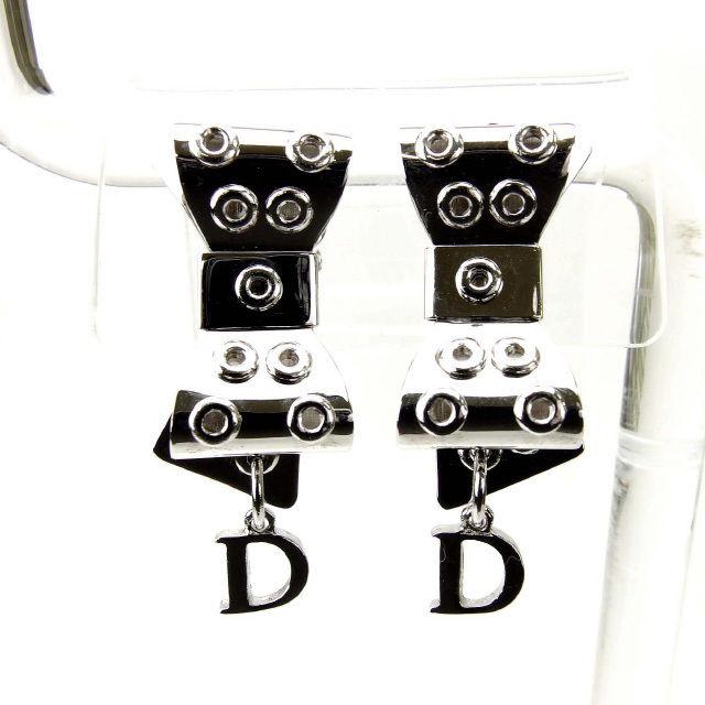 【中古】 クリスチャン・ディオール Christian Dior イヤリング メンズ レディース リボン シルバー (あす楽対応)人気 美品 Y1700 .