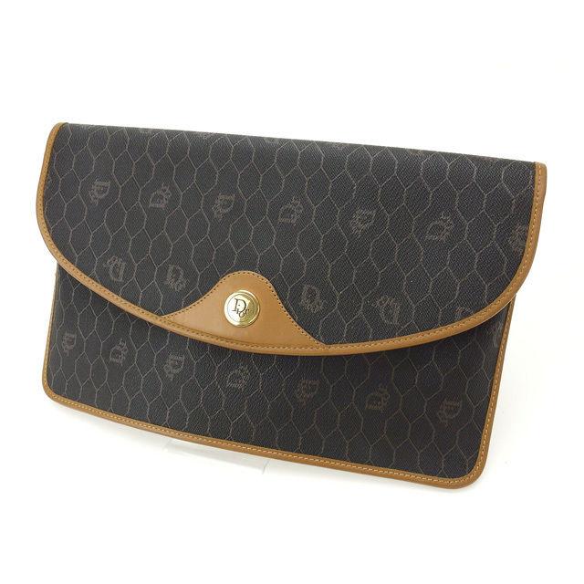 e62cb0753dc6 Christian Dior Christian Dior clutch bag men s possible vintage vintage  light brown X black PVC X leather (correspondence) popular beautiful  article Y1718