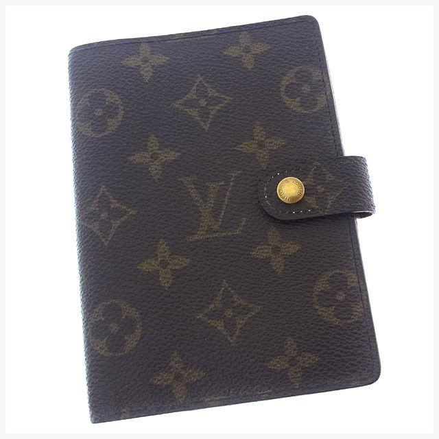 【中古】 ルイヴィトン Louis Vuitton 手帳カバー カード入れ×3 メンズ可 アジェンダPM モノグラム R20005 ブラウン モノグラムキャンバス (あす楽対応)激安 Y1910 .