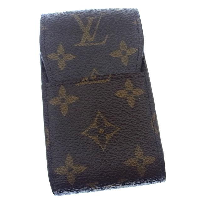 【中古】 ルイヴィトン Louis Vuitton シガレットケース タバコケース メンズ可 エテュイシガレット モノグラム M63024 ブラウン モノグラムキャンバス (あす楽対応)激安 Y1941 .