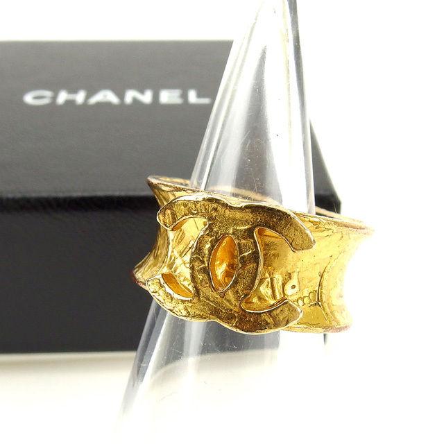 【中古】 シャネル CHANEL 指輪 リング メンズ可 ヴィンテージクラシック ゴールド (あす楽対応)人気 良品 Y2020 .