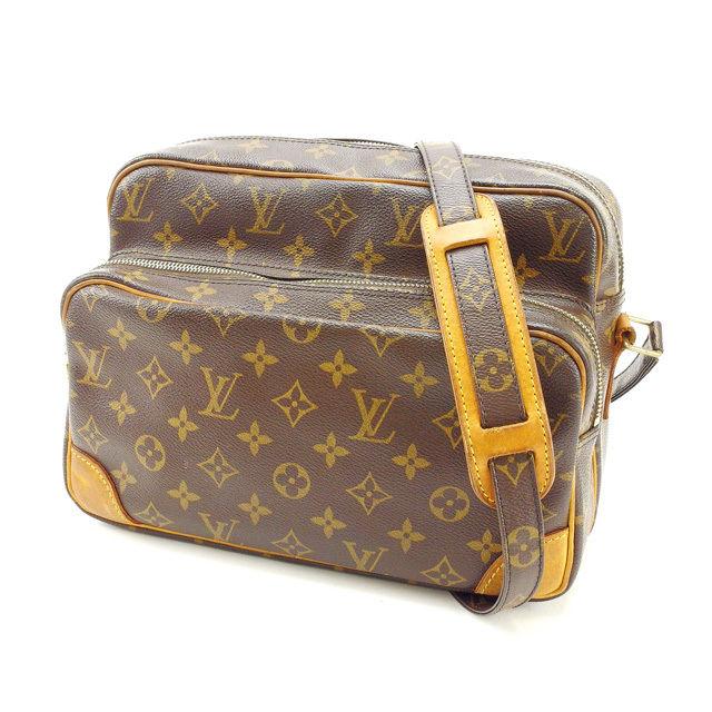 【中古】 ルイヴィトン Louis Vuitton ショルダーバッグ /斜めがけショルダー メンズ可 /ナイル モノグラム M45244 ブラウン PVC×レザー (あす楽対応)人気 良品 Y2022 .