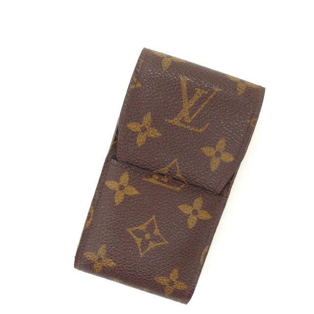 【中古】 ルイヴィトン Louis Vuitton シガレットケース タバコケース メンズ可 エテュイシガレット モノグラム M63024 ブラウン モノグラムキャンバス (あす楽対応)人気 Y2037 .