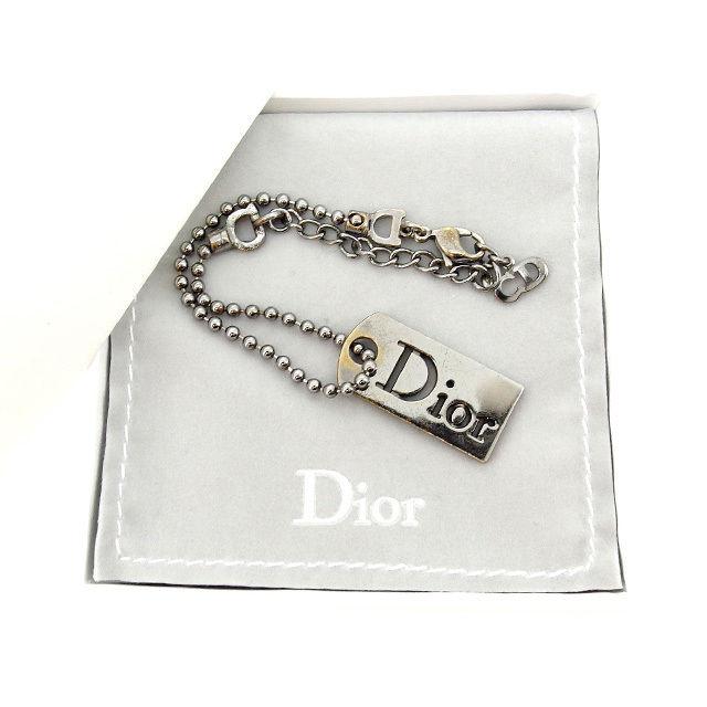 【中古】 クリスチャン ディオール Christian Dior ブレスレット アクセサリー レディース ボールチェーン ブラックシルバー T14779 .