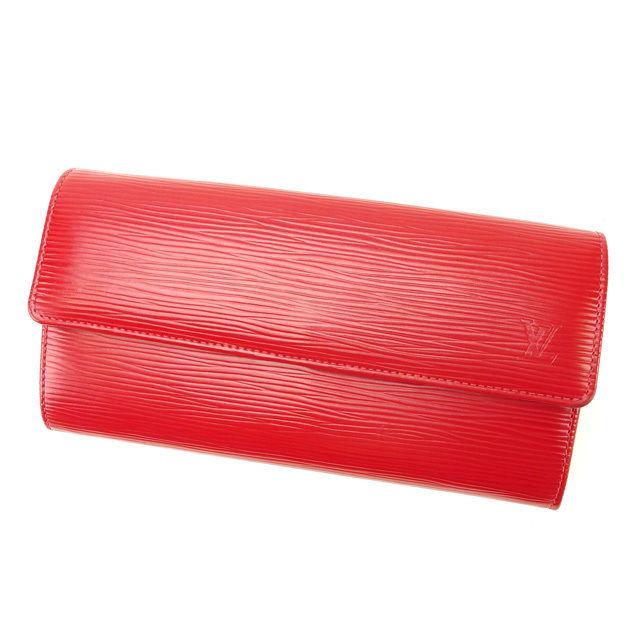 【中古】 ルイヴィトン Louis Vuitton 長財布 ファスナー 二つ折り メンズ可 ポルトフォイユサラ エピ M60316 レッド PVC×レザー (あす楽対応)美品 人気 Y2196 .