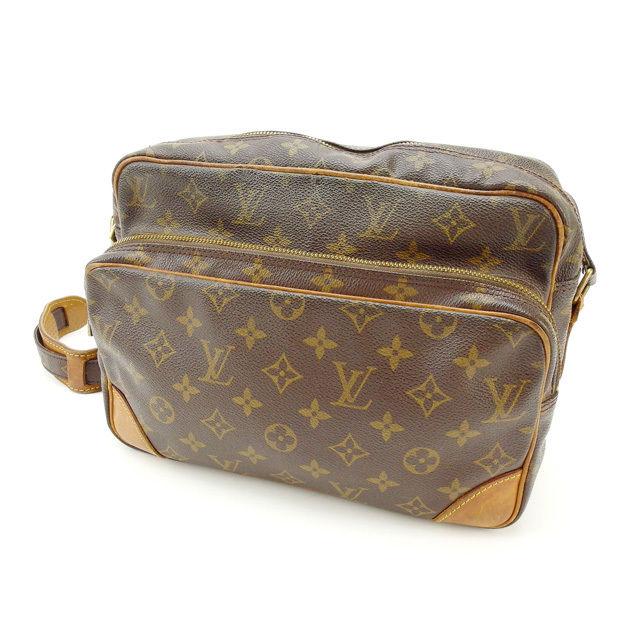 【中古】 ルイヴィトン Louis Vuitton ショルダーバッグ /斜めがけショルダー メンズ可 /ナイル モノグラム M45244 ブラウン PVC×レザー (あす楽対応)激安 Y2226 .