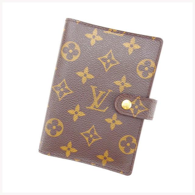 【中古】 ルイヴィトン Louis Vuitton 手帳カバー カード入れ×3 メンズ可 アジェンダPM モノグラム R20005 ブラウン モノグラムキャンバス (あす楽対応)訳あり美品 Y2302 .