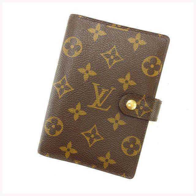 【中古】 ルイヴィトン Louis Vuitton 手帳カバー カード入れ×3 メンズ可 アジェンダPM モノグラム R20005 ブラウン モノグラムキャンバス (あす楽対応)激安 Y2355 .